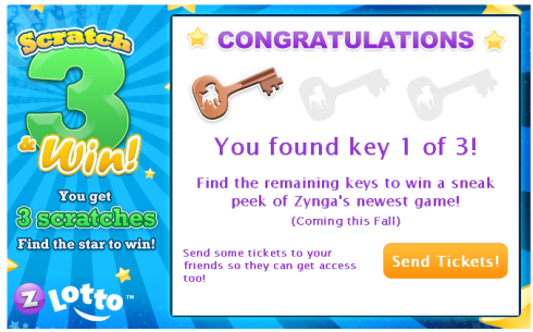 Zynga Lotto: Find 3 Keys