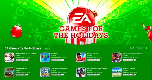 App Store promotes EA games