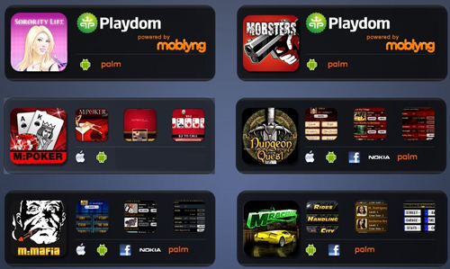 Moblyng HTML5 games home