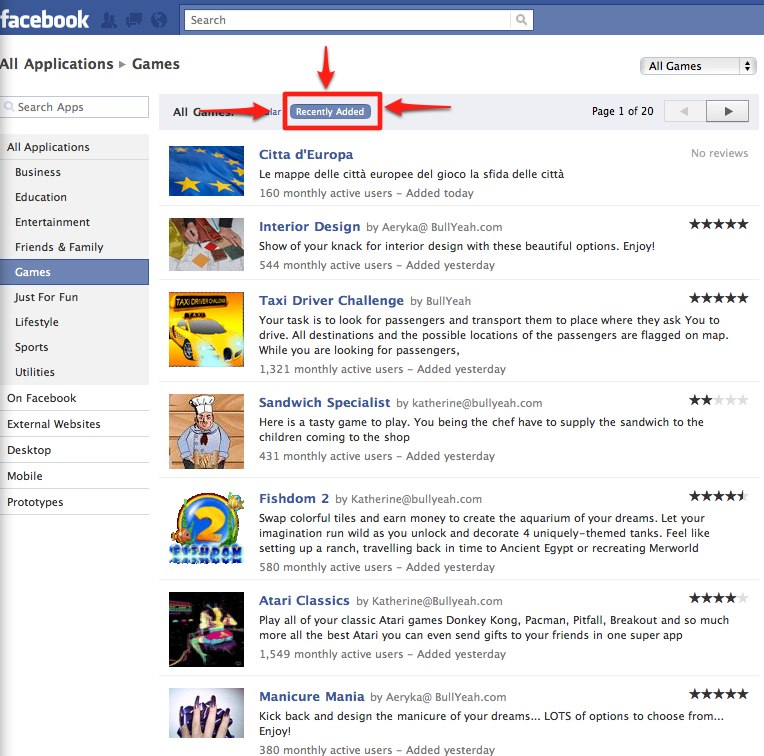 facebook-app-directory-recently-added