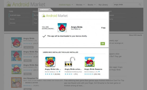 browser-based Android Market