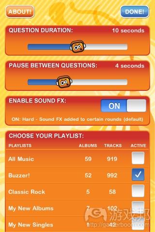 BUZZER!Music Quiz(from iphone.qualityindex.com)