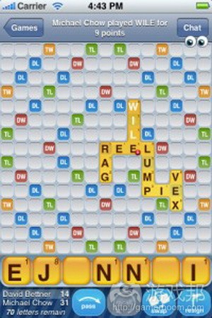 Words With Friends from toucharcade.com