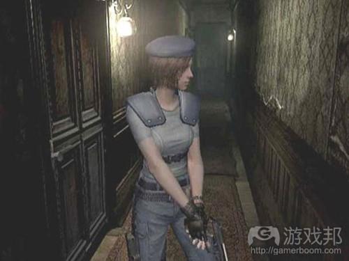 求生恐怖游戏如《生化危机》中常见的狭窄走廊