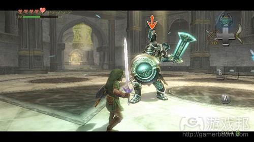 神圣的空间让玩家想稍作休整,而突袭的装甲骑士却不给玩家喘息的机会