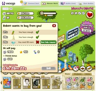 Monster World 2 from insidesocialgames.com