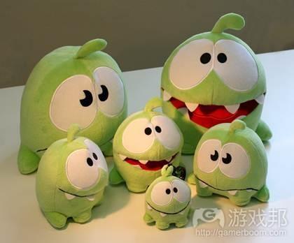 Om Nom toys(from gamezebo)