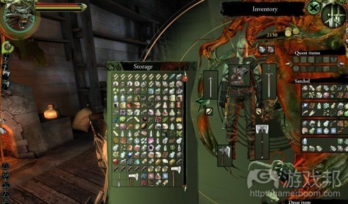 The Witcher 2--Storage UI(from gamespot.com)