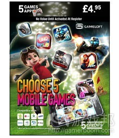 Gameloft Game Card(from eurodroid.com)