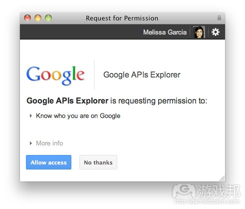 Google APIs Explorer(from insidesocialgames)