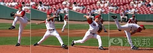 击球手看第一张图就能预测到他下一步的动作,并据此作出反应(from gamasutra)
