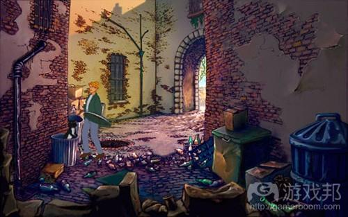 在2d游戏中,开发者为了区分背景和前景,通常也会在不同区域采用暗色