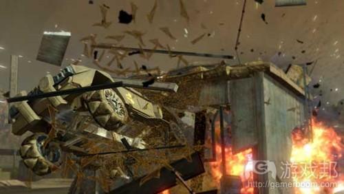 爆破场景是游戏中最常见的惯性跟随现象之一(from gamasutra)