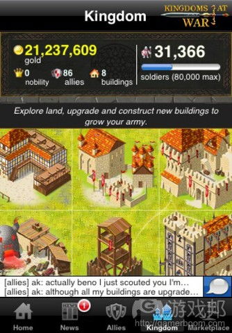 Kingdom at War(from insidemobileapps)