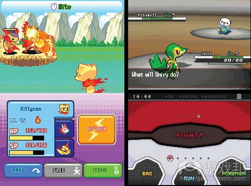 Left, Crystal Monsters. Right, Pokémon Black from gamasutra.com