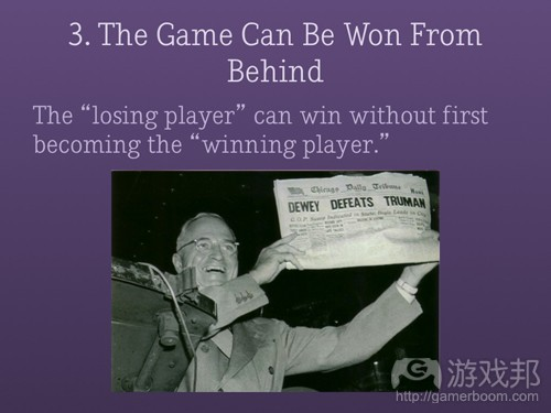 won from behind(from gamasutra)
