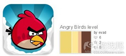 Angry Birds color from colourlovers.com