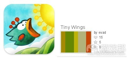 Tiny Wings color from colourlovers.com