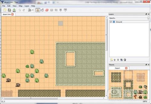 图2.3 Tiled地图编辑器(from gamecareergudie)