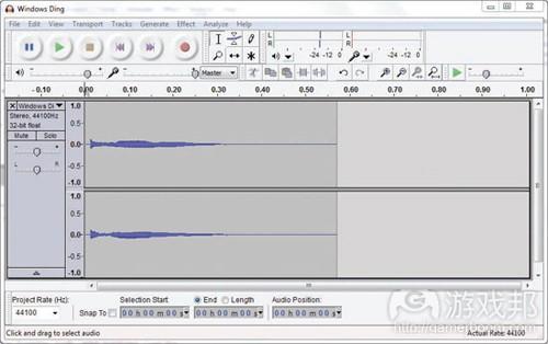 图2.5 Audacity声音编辑器(from gamecareergudie)