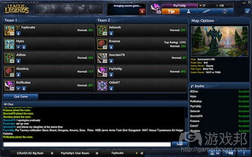 Lobby screen in League of Legends from gamasutra.com