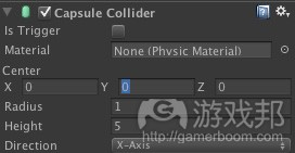 Capsule Collider(from raywenderlich)