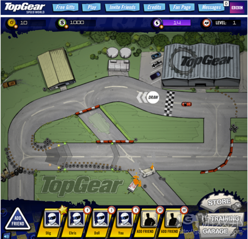 Top Gear:Speed World(from insidesocialgames)