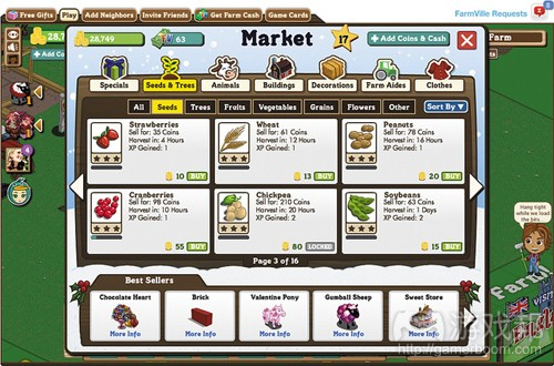 Farmville crops(from netmagazine)