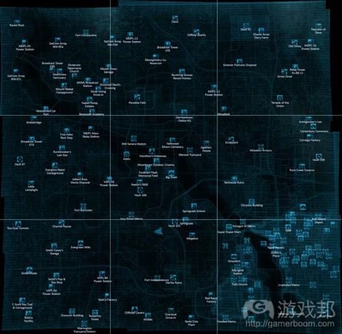 《辐射》地图(from gamasutra)
