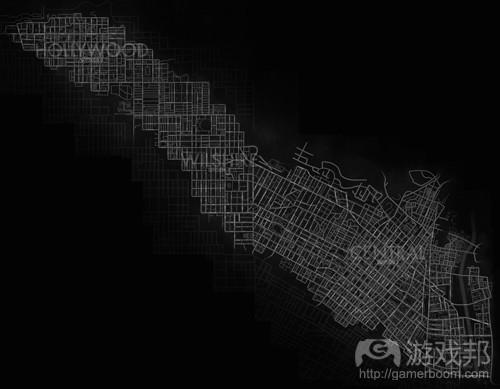 《黑色洛城》地图(from gamasutra)