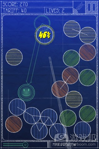Magnetic Billiards:Blueprint(from toucharcade.com)