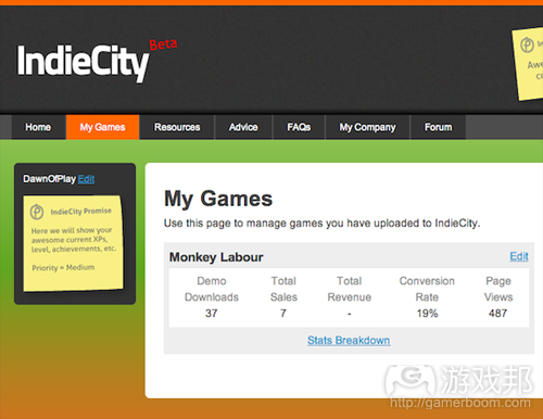 IndieCity(from gamasutra)