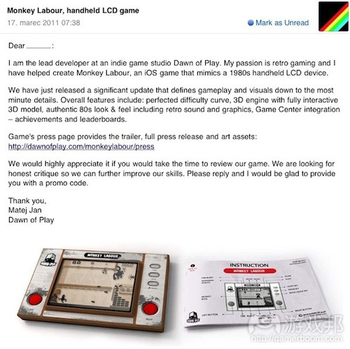 email(from gamasutra)