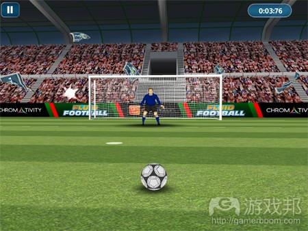 fluid football(from pocketgamer)
