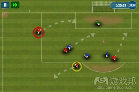 fluid football (from pocketgamer)