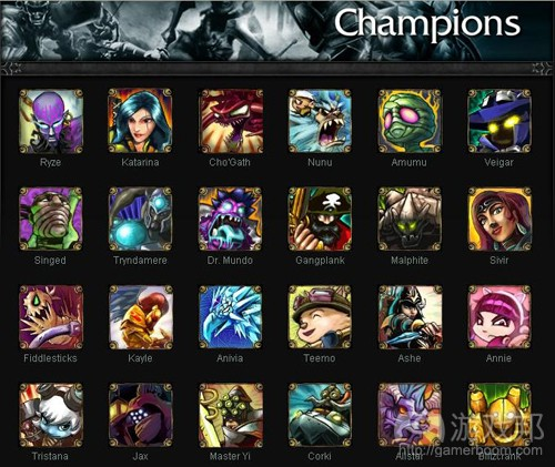 league of legends_Champions(from sarcasticgamer.com)