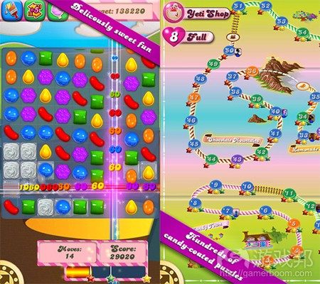 candy crush saga(from pocketgamer)