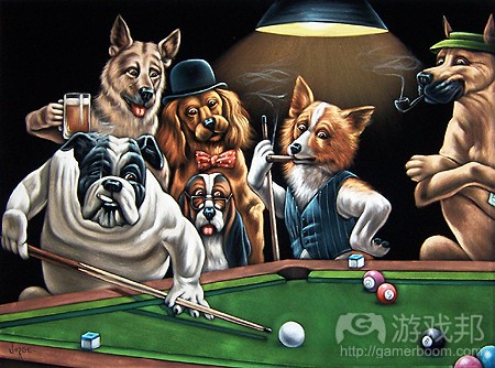 dogs-playing-billiards(from andrewweitzman)
