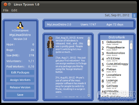 linux tycoon(from indiegames)