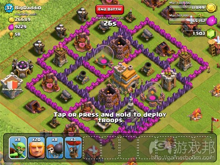 clash of clans(from pocketgamer)