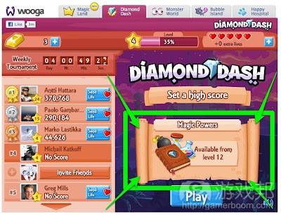 Diamond Dash on Facebook(from deconstructoroffun