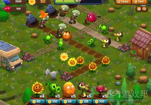 Plants vs Zombies Adventure(from gamasutra)