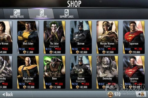 injustice-characters(from pocketgamer)