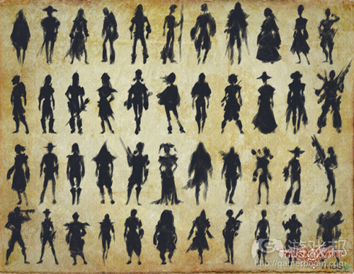 character silhouettes(from whachootalkinboutwillis)