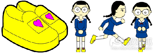 带心形的加速鞋(from gamasutra)