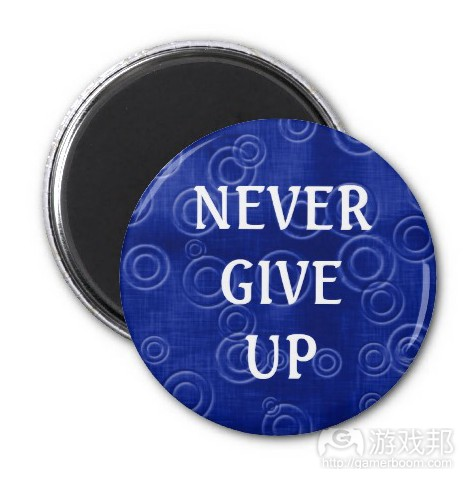 never give up(from zazzle.com)