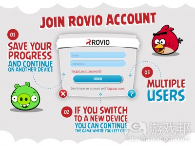rovio account(from pocketgamer)