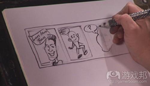 drawing cartoons(from ezcomics)