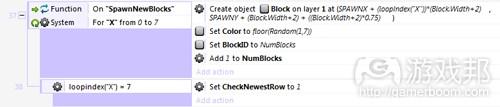 spawnnewblocks(from tutsplus)