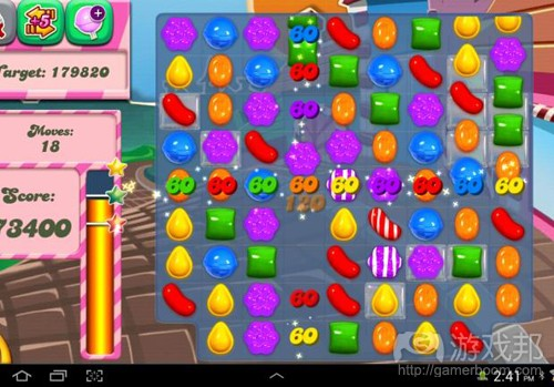 candy crush saga(from reviews.cnet)